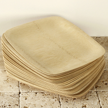 Disposable Compostable Bamboo Steak Plate In Bulk