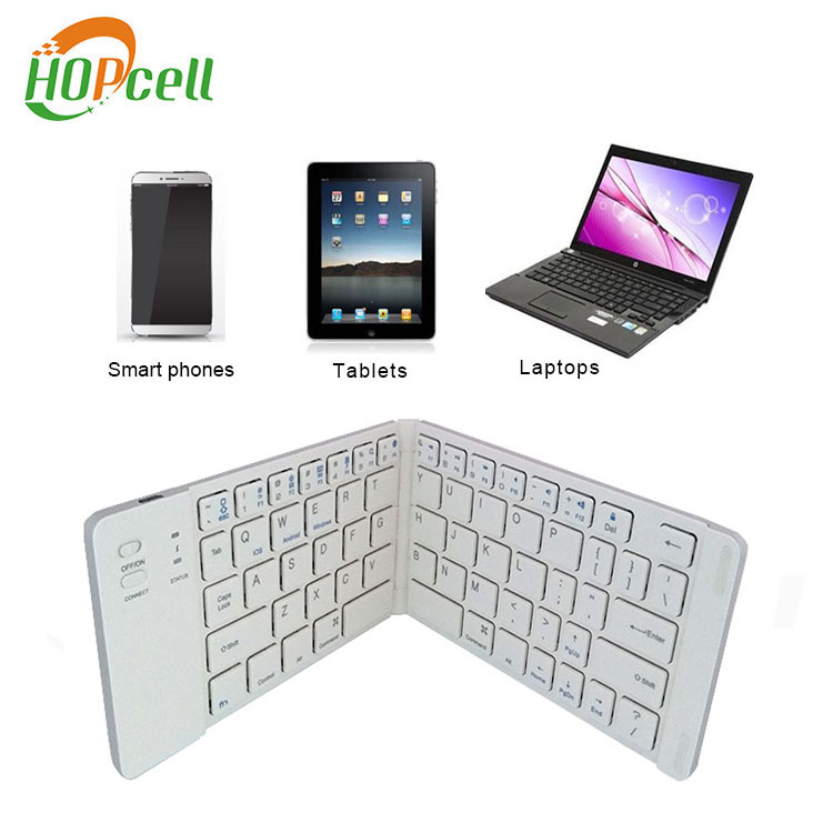 Super slim USB charging foldable bluetooth keyboard for android / tablet / laptop