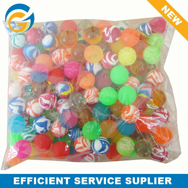 Normal Mixed Bulk Packing 27mm Clear Bouncy Ball