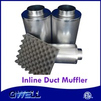 High Quality Acoustic Foam UV Penetrable 8 inch duct muffler