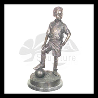 high quality brass badminton sportsman statue