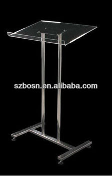 Acrylic Lectern Podium with Metal