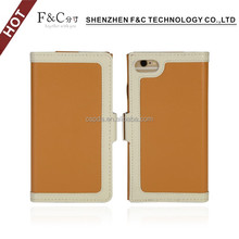 Shenzhen F&C perfect fit side-opening exquisite pu leather sleeve cover customise phone case for iphone 7