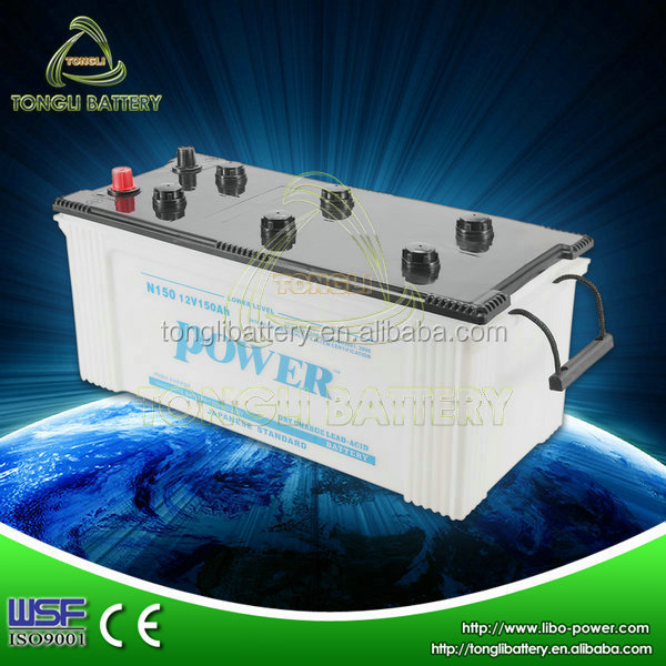 automotive dry battery 12v 150ah with price for sale in China N150