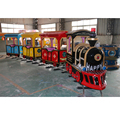 2017 hot sale kids electric train fiberglass train amusement train