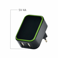 TUV CB report 20W 5v 4000ma Micro USB charger,Dual Port 2 USB Travel Fast USB Charger