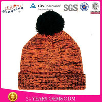 Winter knitted beanies striped fancy ladies hats wholesale stripe 100 acrylic hat