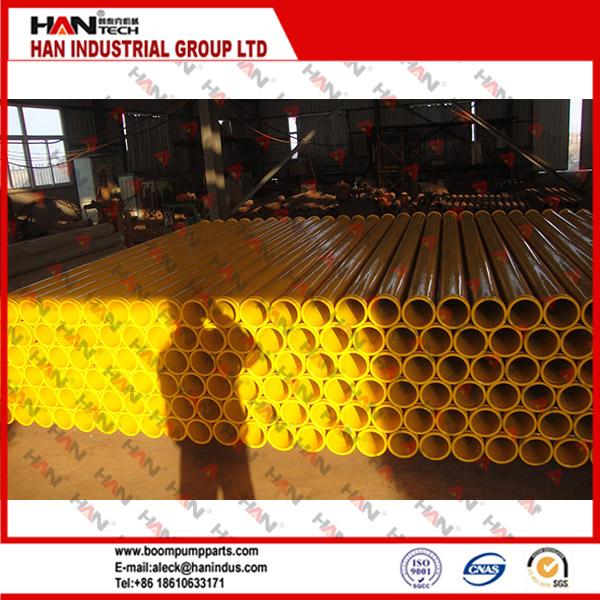 ST52 Dn125*3m reinforced pm concrete pump boom pipe 4.0mm thickness delivery pipe putzmeister spare parts