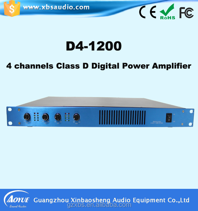 Class D Series Switching power supply 4 Channel 2000W Digital Power Amplifier with 3 Warrenty Quality