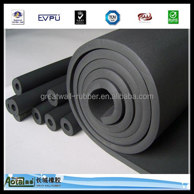 Thermal Insulation 1-50mm thickness vulcanized Foam Rubber Sheet