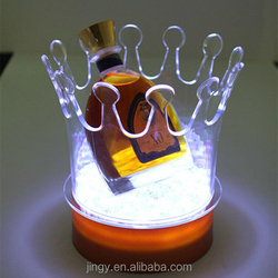 nice looking fancy crown shaped led vodka acrylic ice bucket cooler