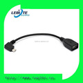 LBT221 Angled Micro B Male To Usb 2.0 Type A Female OTG Cable for Nexus 7