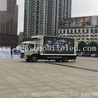 Ad Truck Mounted LED Screen Adverstising