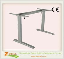 student computer desk with height adjustable wooden table electric office two rectangular lifting column