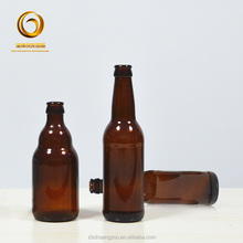 Professional high quality 330ml glass empty beer bottles