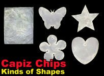 Capiz Chips for Fashion and Home Decoration Accessories