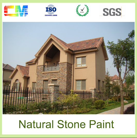 Hot sale waterproof anti mildew alkali resistant washable texture wall natural stone finish paint