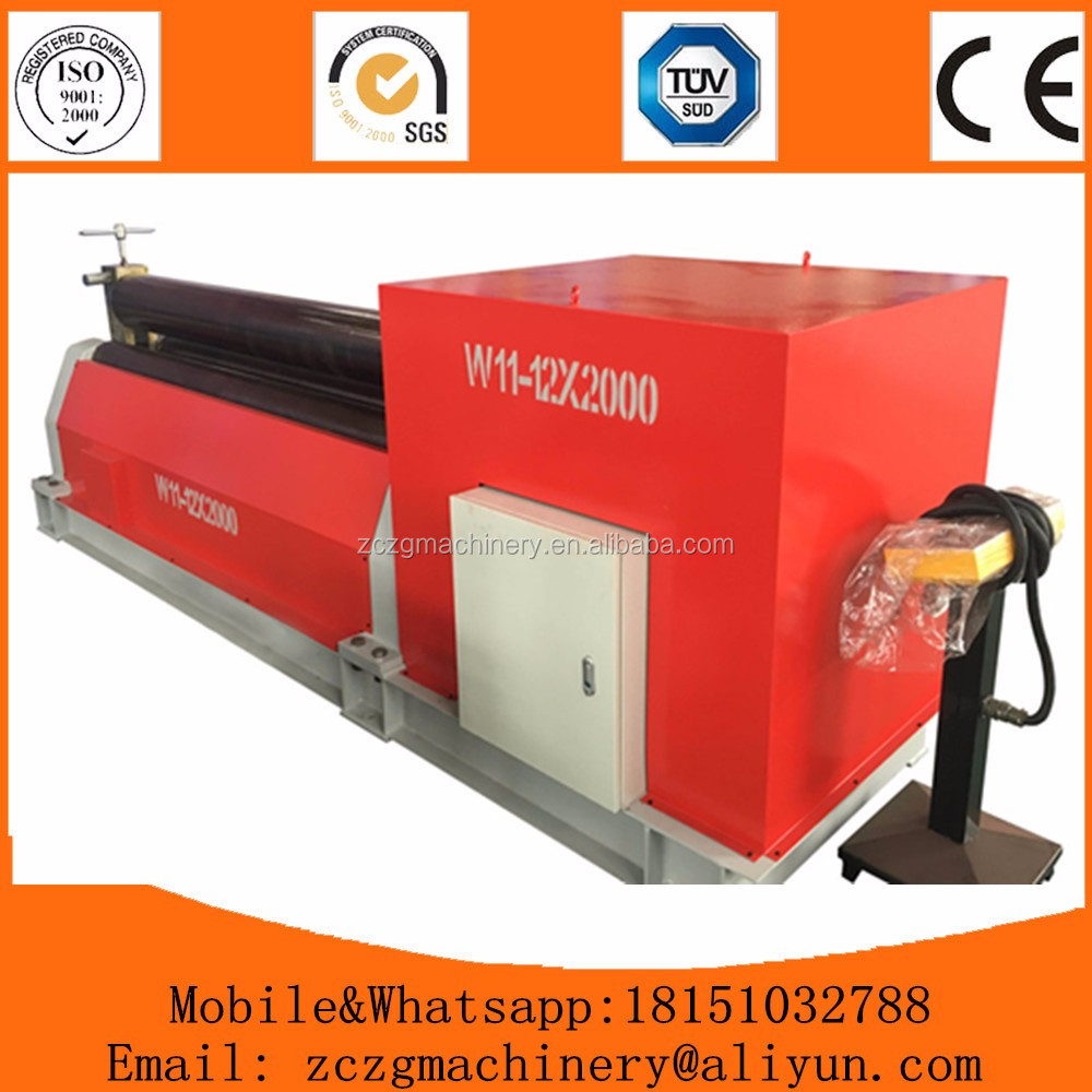 Hot selling <strong>W11</strong> 3 rollers sheet plate mechanical <strong>roll</strong> forming <strong>machine</strong> in stock