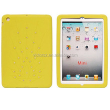 New Arrival Diamond Sparkly Glitter Bling Silicone Case Cover for ipad mini Tablet Case
