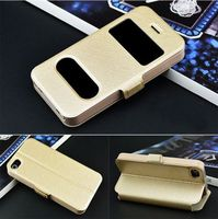 Luxury PU Leather Flip Wallet magnetic snap wallet Cases Stand Cover Pouch For Apple iPhone 4 4G 4S