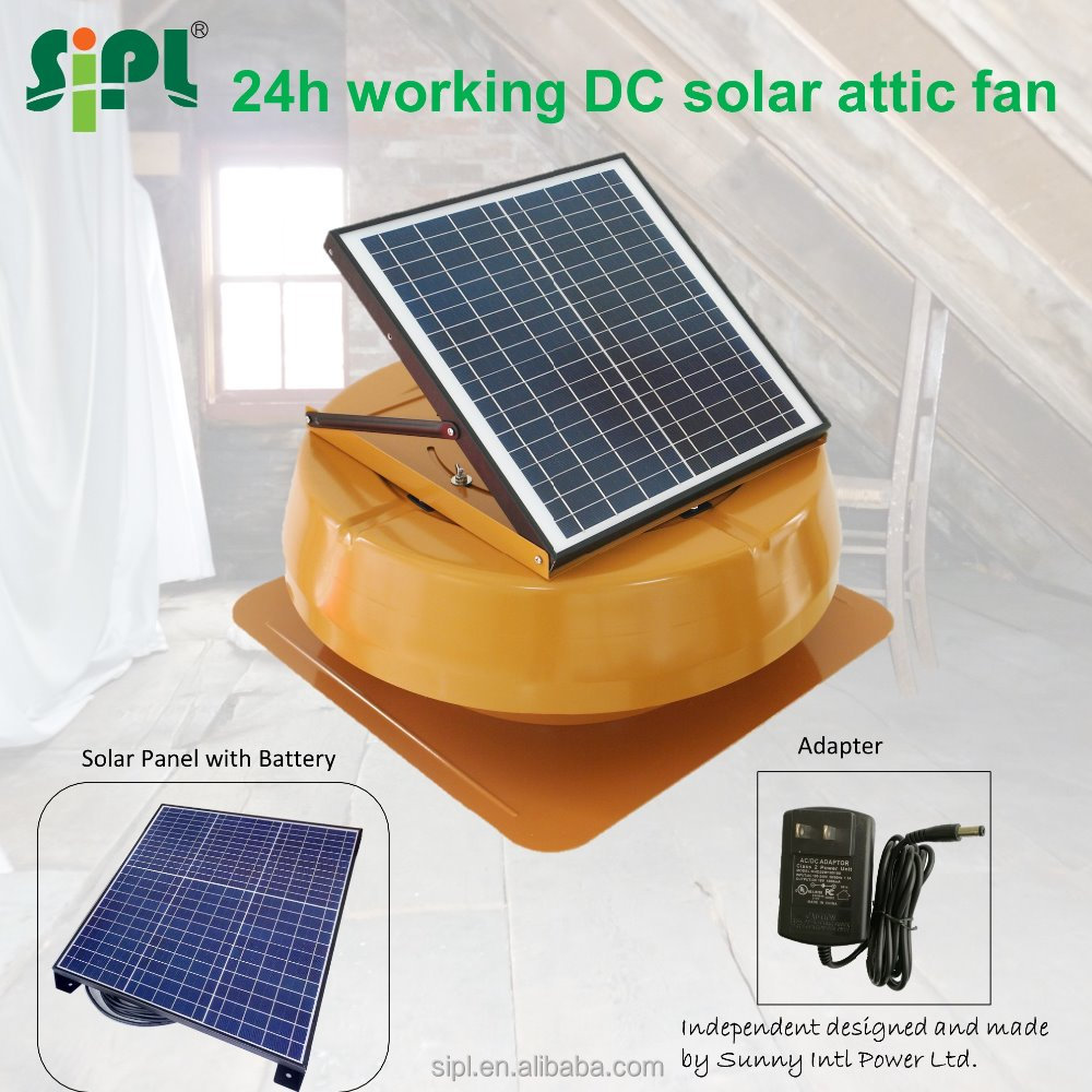14 inch 18V metal evaporative air cooler roof vent solar air conditioning solar roof ventilation exhaust fan thermostats control