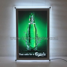 A3 Size LED Slim Crystal Frame Light Box Advertising Poster Display Backlit Signage Photo Display