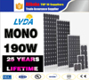 TOP LVDA 1000w solar panel monocrystalline 190w solar panel mono for sale in Pakistan market