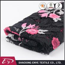 Manufacture elegant new design african floral embroidery lace fabric