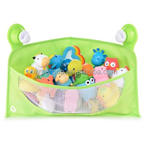 Polyester Fabric/Plastic Mesh Hanging Bath Toy Organizer for Kids