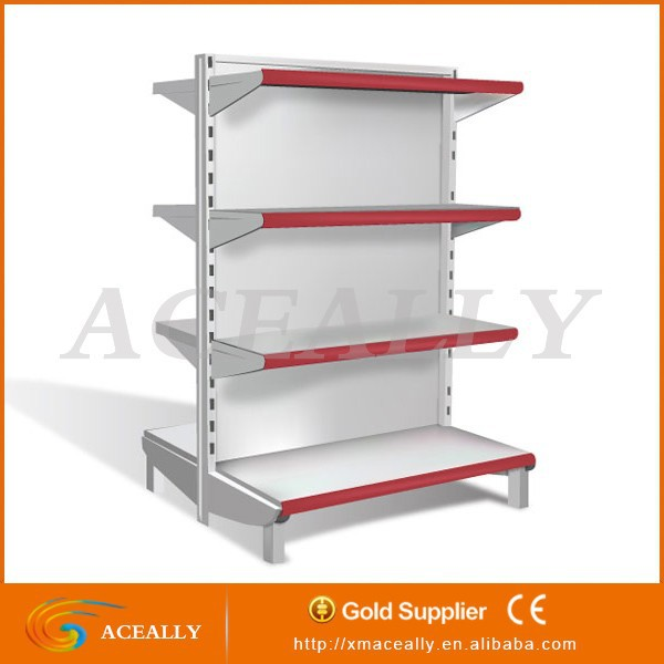Double-sided Feature and Metallic Material Metal Gondola Supermarket Shelf