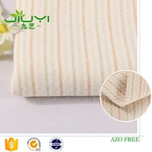 wholesale jacquard colorful stripe scuba 100% cotton fabric for organic muslin swaddle blanket