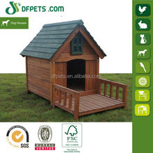 Low Cost Wooden Dog House With Porch Wholesale