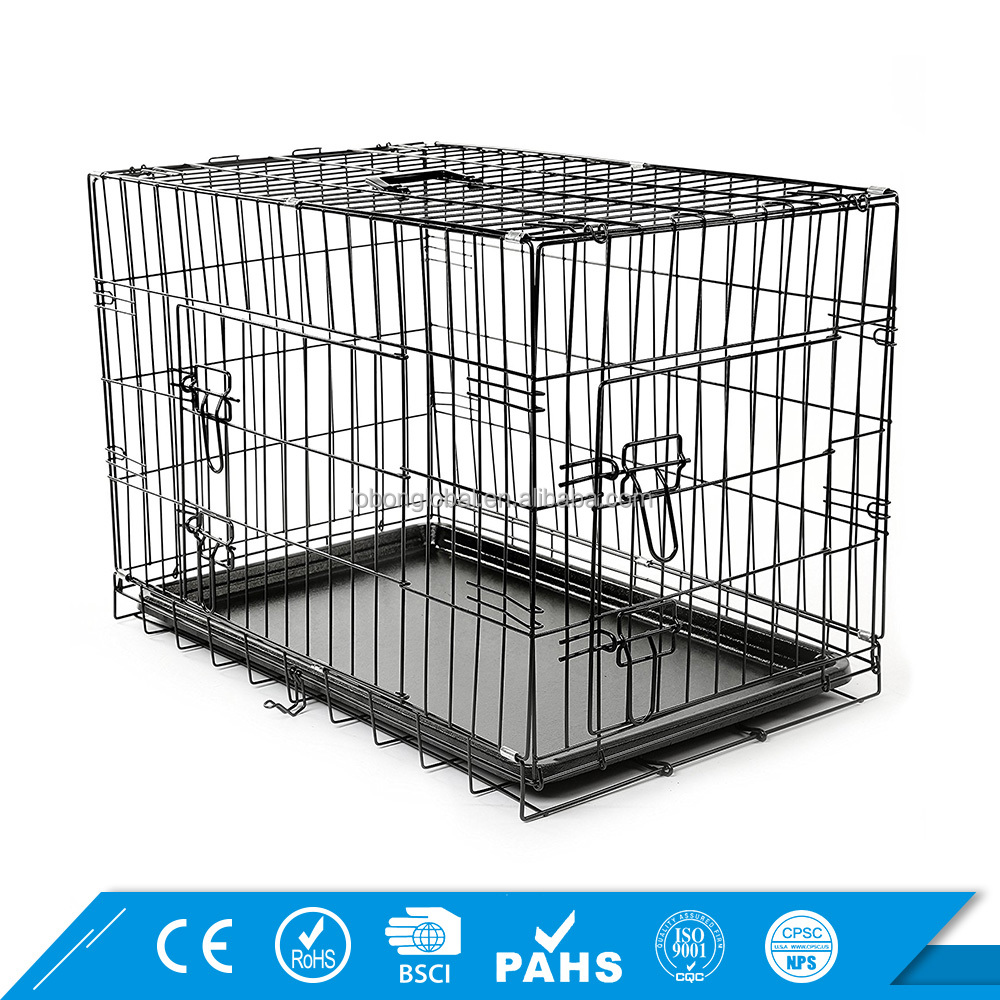 Heavy Duty Pet Cage Chrome Folding Commercial Iron Metal Dog Cage