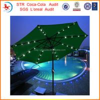 9 Foot Patio LED Solar Umbrella With Led Umbrella Light