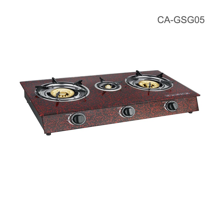 Lava Tempered glass stove /3 cast iron burner gas rangs kitchen <strong>appliance</strong> /home use