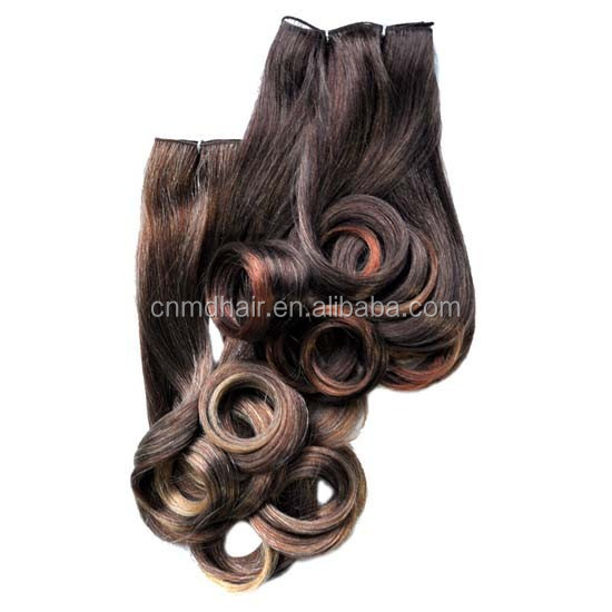 2 pieces african synthetic hair extension weave ,synthetic hair weave