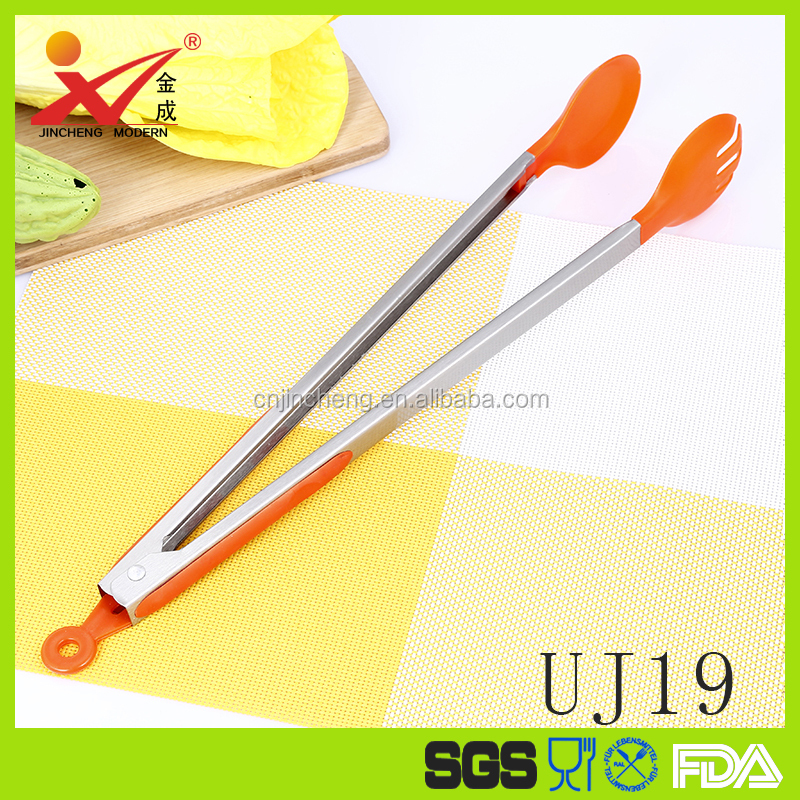 UJ19 New product 2016 kitchen gadgets silicone tongs