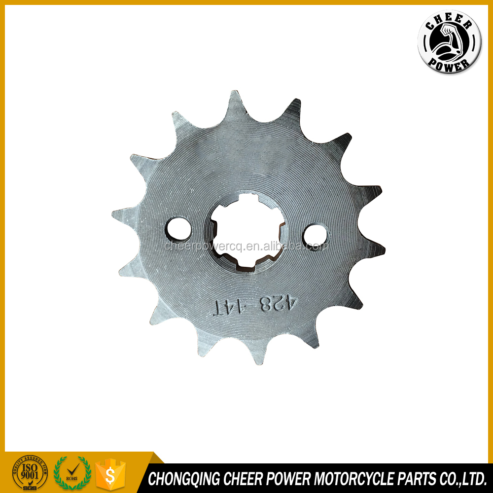 MOTORCYCLE FRONT DRIVING SPROCKET 428H 14T PINON MOTRIZ 428 14D for AX100 SUZUKI