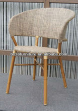 Outdoor furniture stacking bamboo coffee chairs for used restaurant