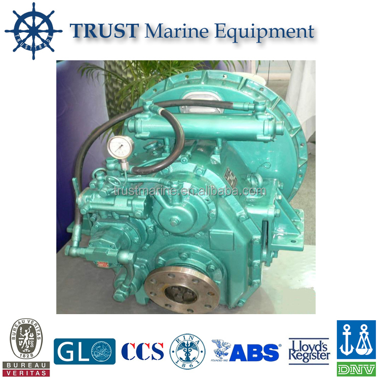 Marine diesel engine with gearbox or reverse box with certification