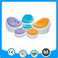 Best-selling European style inflatable sofa set inflatable sofa with foot rest