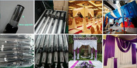 drapery hardware portable telescopic pipe and drape curved pipe and drape or event