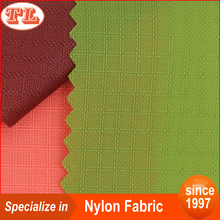 200d double thread ripstop nylon oxford fabric with PU coated for bag