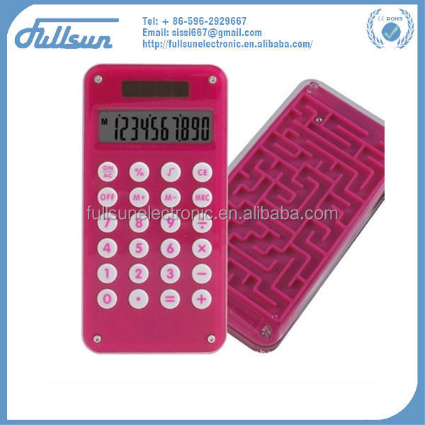 10 digit fancy calculator with game pocket calculator FS-2035