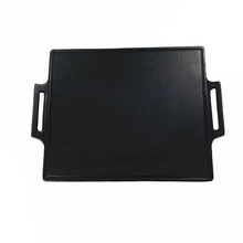 Square cast iron nonstick bbq grill <strong>plate</strong> for outdoor cooking