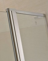 bathroom hinge transparent shower screen without frame