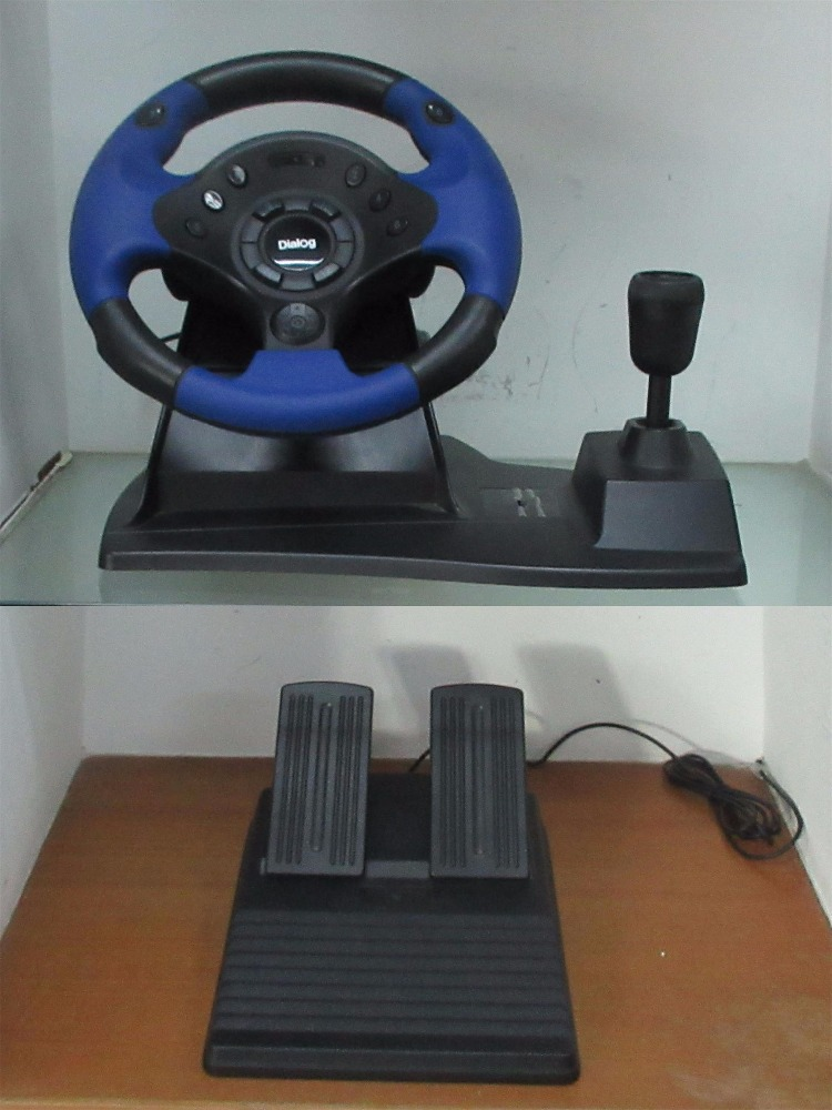 video racing game controller steering wheel with foot pedal for PC /X-INPUT /PS3 /XBOX ONE