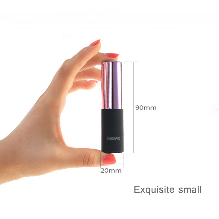 2017 Ultra mini sexy lipstick powerbank 2600mah usb charger for woman gift