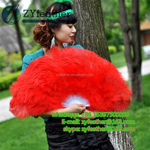 Manufacturer belly dance costume cheap price Handmade sexy feather fans
