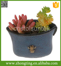 Factory new design Container Planter ceramic handbag shaped flower pot